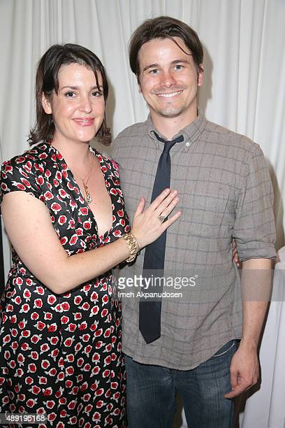 Actors Melanie Lynskey and Jason Ritter attend EXTRA's WEEKEND OF | LOUNGE produced by On 3 Productions at The London West Hollywood on September 19...