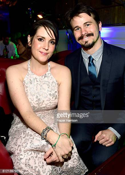 Actors Melanie Lynskey and Jason Ritter attend Global Green USA's 13th annual preOscar party at Mr C Beverly Hills on February 24 2016 in Los Angeles...
