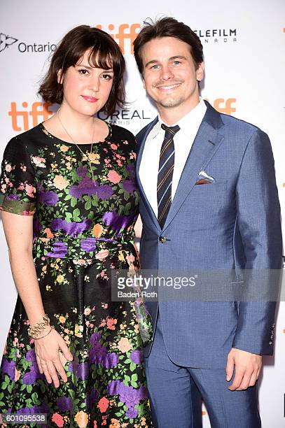 Actors Melanie Lynskey and Jason Ritter attend the 'Carrie Pilby' premiere during the 2016 Toronto International Film Festival at Ryerson Theatre on...