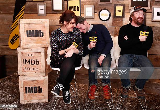 Actors Melanie Lynskey Elijah Wood and director Director Macon Blair of I Don't Feel At Home In This World Anymore attend The IMDb Studio featuring...