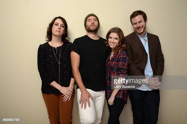 Actors Melanie Lynskey Mark Webber Anna Kendrick and director Joe Swanberg pose for a portrait during the 2014 Sundance Film Festival at the Getty...