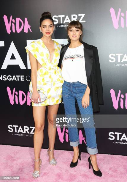 Actors Melissa Barrera and Ella Purnell attend the premiere of Starz Vida at the Regal LA Live Stadium 14 on May 1 2018 in Los Angeles California