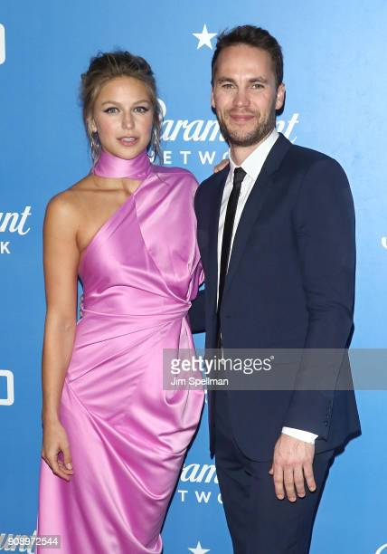 Actors Melissa Benoist and Taylor Kitsch attend the 'Waco' world premiere at Jazz at Lincoln Center on January 22 2018 in New York City