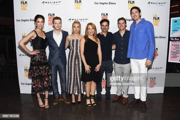 Actors Melissa Bolona Cameron Monaghan Madelyn Deutch Lea Thompson Jesse Bradford Zach Roerig and Nicholas Braun attend the 2017 Los Angeles Film...