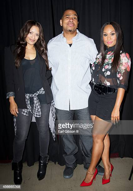 Actors Melissa De Sousa Omar Gooding and Angell Conwell attend Bounce TV Hosts Season 2 Premiere Of 'Family TIme' at TCL Chinese 6 Theatres on...