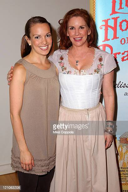 Actors Melissa Gilbert and Kara Lindsay attend a rehearsal for the National Tour of Little House on the Prairie The Musical at The New 42nd Street...