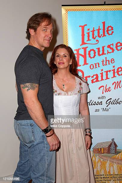 Actors Melissa Gilbert and Steve Blanchard attend a rehearsal for the National Tour of Little House on the Prairie The Musical at The New 42nd Street...