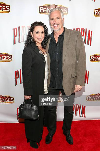 """Actors, Melissa Hurley and Patrick Cassidy attend the opening night of """"PIPPIN"""" at the Pantages Theatre on October 22, 2014 in Hollywood, California."""