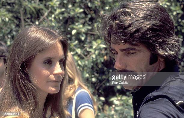 Actors Melissa Newman and Sam Elliott attend the Tennis and Crumpet Tournament Hosted by Hugh Hefner on May 21 1977 at Playboy Mansion in Beverly...