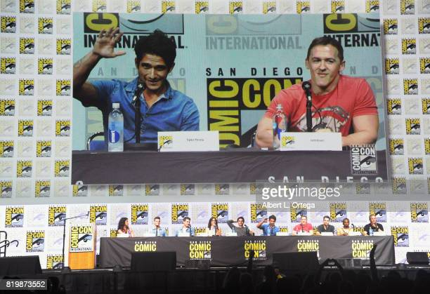 Actors Melissa Ponzio Charlie Carver Cody Christian Shelley Hennig Dylan O'Brien Tyler Posey executive producer Jeff Davis Dylan Sprayberry Khylin...