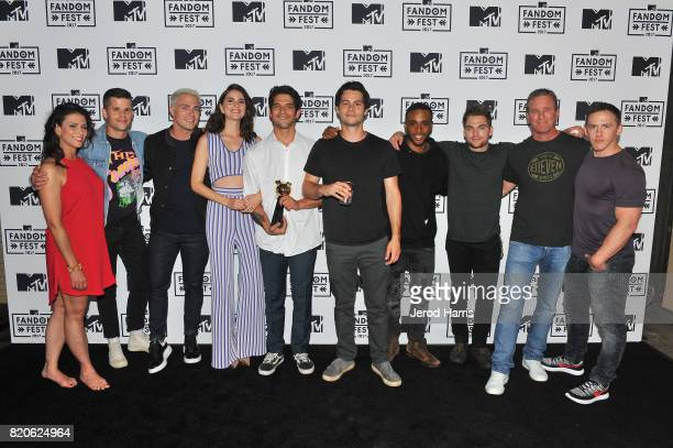 Actors Melissa Ponzio Charlie Carver Colton Haynes Shelley Hennig Tyler Posey Dylan O'Brien Khylin Rhambo Dylan Sprayberry Linden Ashby and producer...