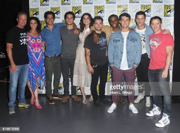 Actors Melissa Ponzio Tyler Posey Dylan O'Brien Shelley Hennig Dylan Sprayberry Khylin Rhambo Cody Christian Charlie Carver executive producer Jeff...