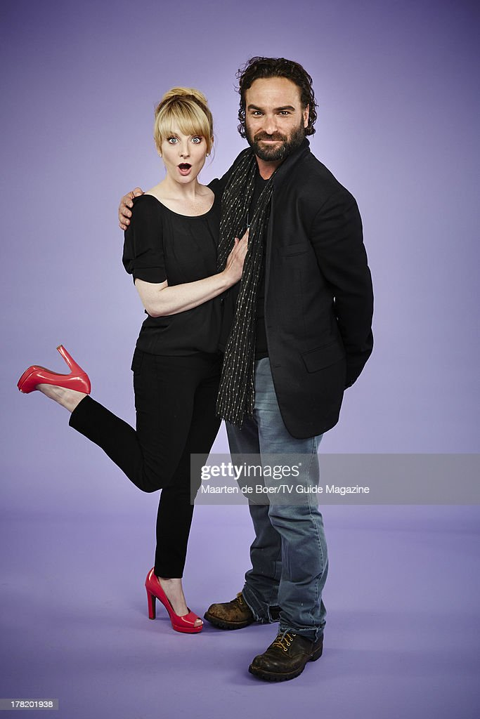Melissa Rauch and Johnny Galecki, TV Guide Magazine, Comic Con 2013 : News Photo