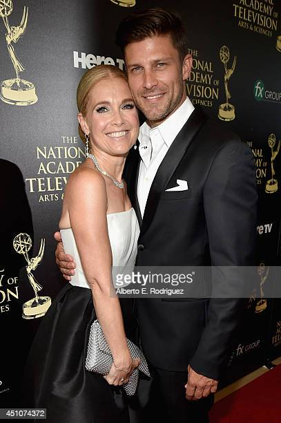 Actors Melissa Reeves and Greg Vaughan attend The 41st Annual Daytime Emmy Awards at The Beverly Hilton Hotel on June 22 2014 in Beverly Hills...