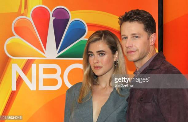 Actors Melissa Roxburgh and Josh Dallas attend the NBC 2019/20 Upfront at Four Seasons Hotel New York on May 13 2019 in New York City