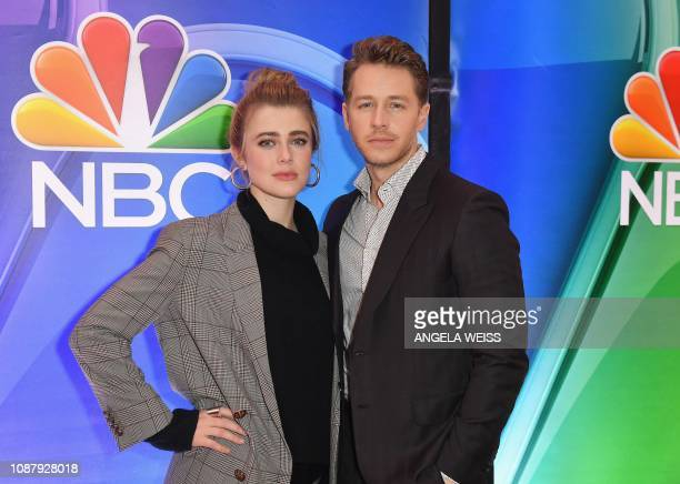 Actors Melissa Roxburgh and Josh Dallas attend the NBC midseason press junket at The Four Seasons in New York on January 24 2019