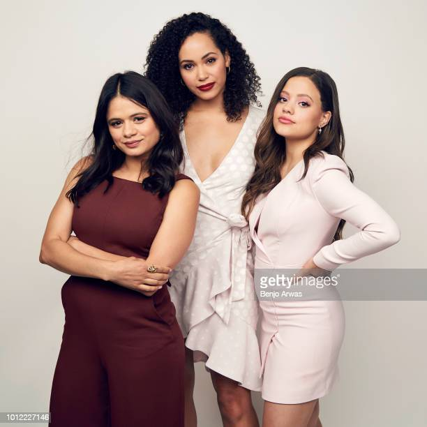 Actors Melonie Diaz Madeleine Mantock and Sarah Jeffery of CW's 'Charmed' pose for a portrait during the 2018 Summer Television Critics Association...