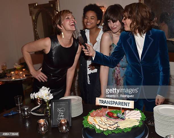 Actors Melora Hardin, Kiersey Clemons, Hari Nef and creator/executive producer Jill Soloway attend the after party for the Premiere Of Amazon's...