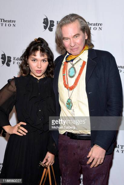 Actors Mercedes Kilmer and Val Kilmer attend the 2019 annual Thespians Go Hollywood Gala at Avalon Hollywood on November 18 2019 in Los Angeles...