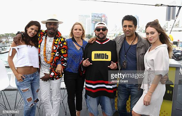 Actors Mercedes Masohn, Coleman Domingo, Kim Dickens, Kevin Smith, Cliff Curtis and Alycia Debnam-Carey attend AMC at Comic-Con on July 23, 2016 in...