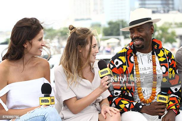 Actors Mercedes Mason Alycia DebnamCarey and Coleman Domingo of Fear the Walking Dead attend the IMDb Yacht at San Diego ComicCon 2016 Day Three at...