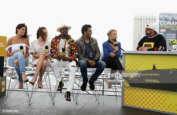 Actors Mercedes Mason, Alycia Debnam-Carey, Coleman Domingo, Cliff Curtis and Kim Dickens with director Kevin Smith attend AMC at Comic-Con on July...