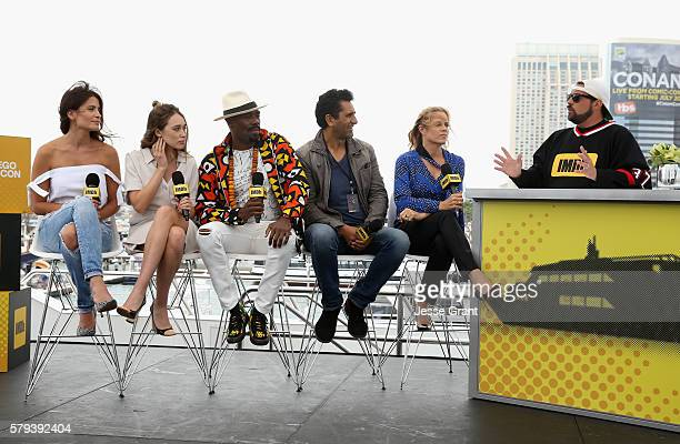 Actors Mercedes Mason Alycia DebnamCarey Coleman Domingo Cliff Curtis and Kim Dickens with director Kevin Smith attend AMC at ComicCon on July 23...