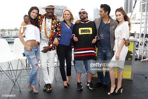 Actors Mercedes Mason Coleman Domingo Kim Dickenshost Kevin Smith Cliff Curtis and Alycia DebnamCarey of Fear the Walking Dead attend the IMDb Yacht...