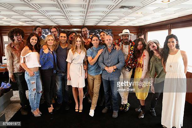 Actors Mercedes Mason Kim Dickens Cliff Curtis Alycia DebnamCarey Dave Erickson Lorenzo James Henrie Coleman Domingo and Alycia DebnamCarey with...