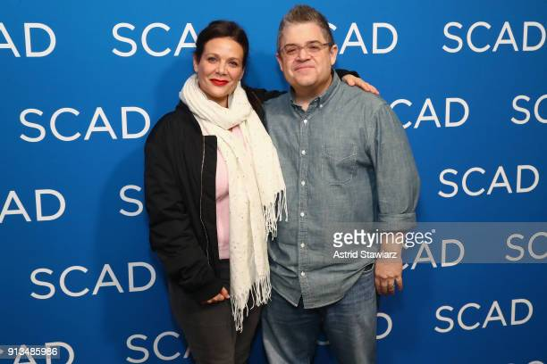 Actors Meredith Salenger and Patton Oswalt attend a screening and QA for 'AP Bio' on Day 2 of the SCAD aTVfest 2018 on February 2 2018 in Atlanta...