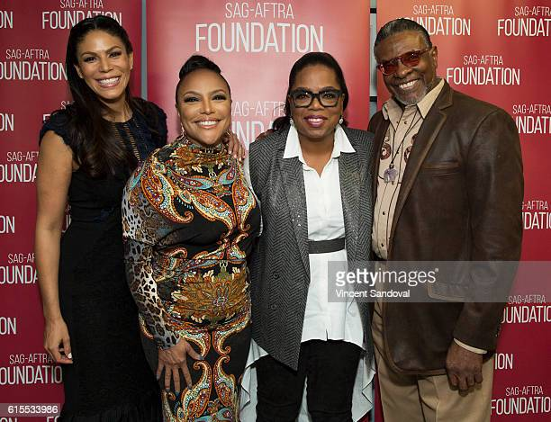 Actors Merle Dandridge Lynn Whitfield Oprah Winfrey and Keith David attend SAGAFTRA Foundation's Conversations with 'Greenleaf' at SAG Foundation...
