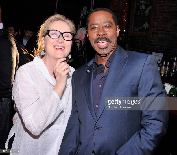 Actors Meryl Streep and Courtney B. Vance attend The 2013 Obie Awards at Webster Hall on May 20, 2013 in New York City.