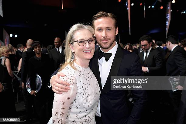 Actors Meryl Streep and Ryan Gosling attend The 23rd Annual Screen Actors Guild Awards at The Shrine Auditorium on January 29 2017 in Los Angeles...