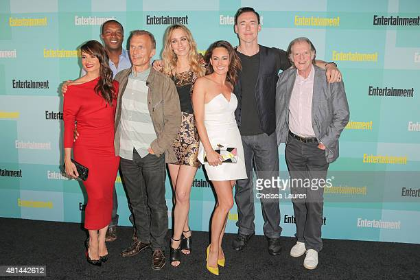 Actors Mia Maestro Roger R Cross Richard Sammel Ruta Gedmintas Natalie Brown Kevin Durand and David Bradley arrive at the Entertainment Weekly...