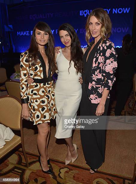 Actors Mia Maestro Shiva Rose and Dawn Olivieri attend The Equality Now's Make Equality Reality Event at Montage Beverly Hills on November 3 2014 in...