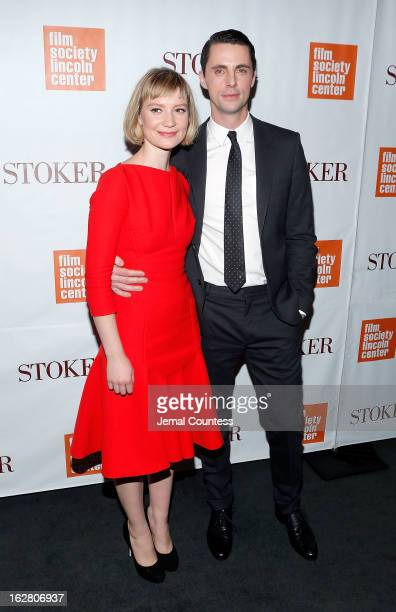 Actors Mia Wasikowska and Matthew Goode attend the Stoker New York Screening at The Film Society of Lincoln Center Walter Reade Theatre on February...