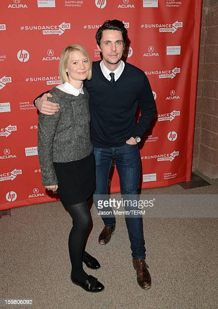 Actors Mia Wasikowska and Matthew Goode attend the 'Stoker' premiere at the Eccles Center Theatre during the 2013 Sundance Film Festival on January...