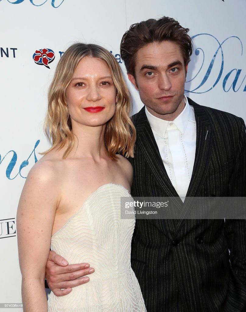 Actors Mia Wasikowska (L) and Robert Pattinson attend Magnolia Pictures' 'Damsel' premiere at ArcLight Hollywood on June 13, 2018 in Hollywood, California.