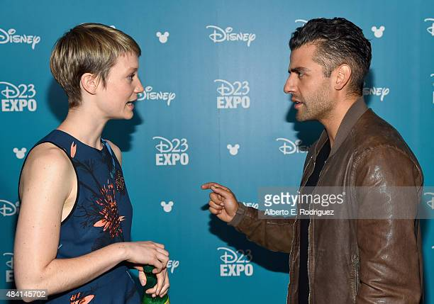 Actors Mia Wasikowska of ALICE THROUGH THE LOOKING GLASS and Oscar Isaac of STAR WARS THE FORCE AWAKENS took part today in 'Worlds Galaxies and...