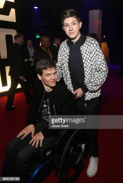 Actors Micah Fowler and Mason Cook at the world premiere of Lucasfilm's Star Wars The Last Jedi at The Shrine Auditorium on December 9 2017 in Los...