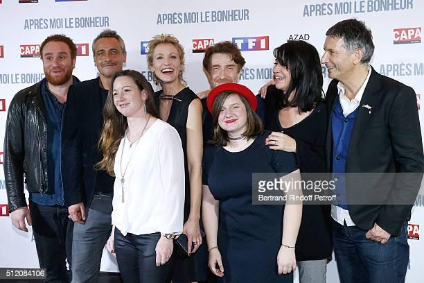 Actors Michael Abiteboul JeanMichel Tinivelli Alexandra Lamy Thierry Fremont Zabou Breitman Director Nicolas Cuche and Team of the movie attend the...