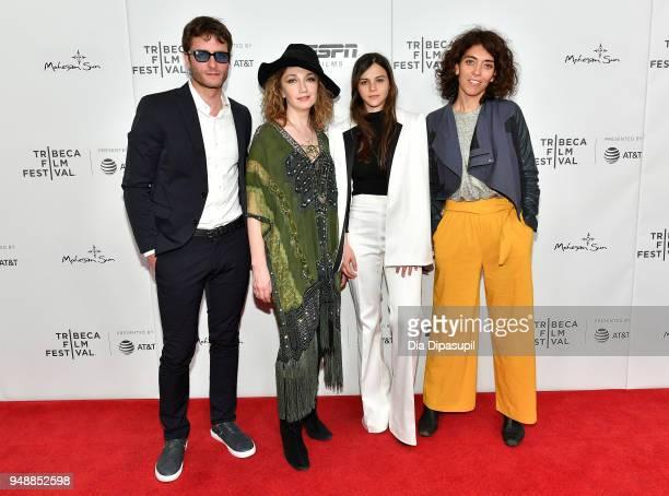 "Actors Michael Aloni, Evgenia Dodina, Joy Rieger and director Keren Ben Rafael attend a screening of ""Virgins"" during the 2018 Tribeca Film Festival..."