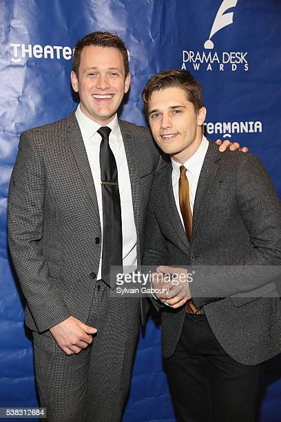 Actors Michael Arden and Andy Mientus attend The 61st Annual Drama Desk Awards Arrivals at Anita's Way on June 5 2016 in New York City
