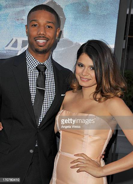 """Actors Michael B. Jordan and Melonie Diaz arrive at the premiere of The Weinstein Company's """"Fruitvale Station"""" during the 2013 Los Angeles Film..."""