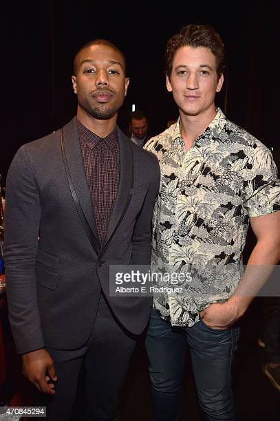 Actors Michael B Jordan and Miles Teller attend 20th Century Fox Invites You to a Special Presentation Highlighting Its Future Release Schedule at...