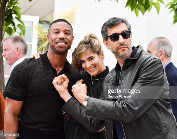 Actors Michael B Jordan Sofia Boutella and director Ramin Bahrani attends the photocall for the 'Farenheit 451' during the 71st annual Cannes Film...