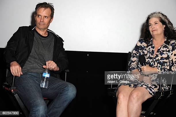 Actors Michael Biehn and Jenette Goldstein attend the Burbank International Film Festival's Presentation 30th Anniversary Screening Of Aliens held at...