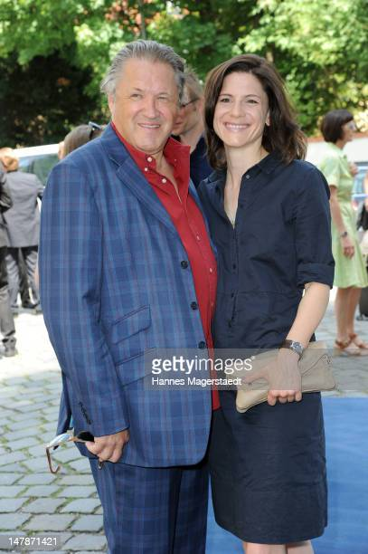 Actors Michael Brandner Christina Hecke attend the FFF Reception during the Munich Film Festival 2012 at the Praterinsel on July 5 2012 in Munich...
