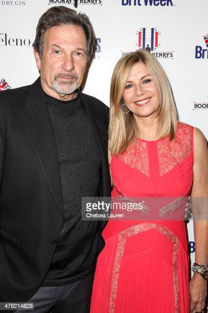 Actors Michael Brandon and Glynis Barber arrive at the BritWeek Oscar party celebrating past present and future Oscar winners at Hooray Henry's on...