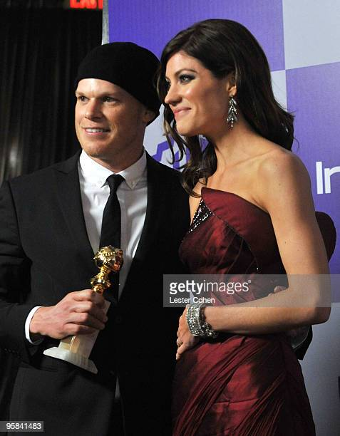 Actors Michael C Hall and Jennifer Carpenter attend the InStyle and Warner Bros 67th Annual Golden Globes post party held at the Oasis Courtyard at...